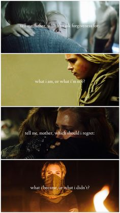 Tell me, father, which to ask forgiveness for. Tell me, mother, which should I regret. Lexa The 100, The 100 Clexa, Tv Show Quotes, Movie Quotes, The 100 Grounders, Clark Griffin, The 100 Characters, The 100 Quotes, 100 Memes