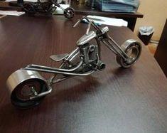 Chopper (metal art - scrap metal - recycled - techno art -  motorcycle)