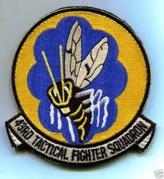 43rd Tactical Fighter Squadron US Air Force Patch Hornet Heritage Patch | eBay