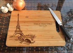 ikb530 Personalized Cutting Board paris honeymoon wooden wedding gift wedding anniversary