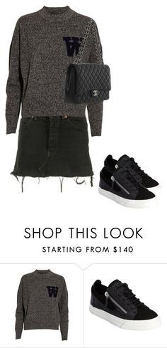 """""""Untitled #142"""" by frederikkematilder on Polyvore featuring Levi's, Wood Wood, Giuseppe Zanotti and Chanel"""