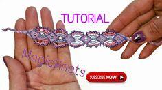 Purple rhapsody micro macrame bracelet ( DIY )