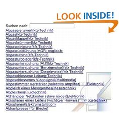 Auto-Lexikon / Kfz-Technik + Mechatronik-Allgemein (Multimedia EDV Maschinenbau Elektronik) (German Edition): Markus Wagner: Amazon.com: Kindle Store