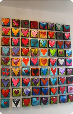 Ottawa giveaway alert: the gift of h'art from Alison Fowler - a peek inside the fishbowl Clay Crafts, Arts And Crafts, Paper Crafts, Canvas Art Projects, Heart Art, Heart Collage, Collaborative Art, Art Club, Elementary Art