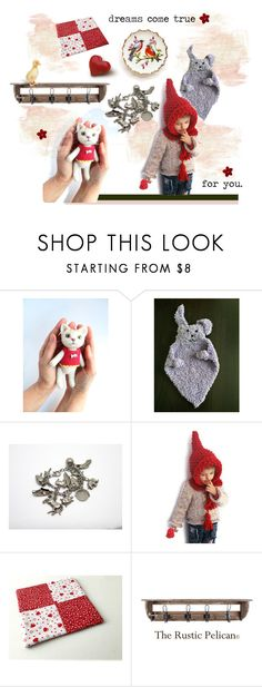 """""""dreams come true"""" by seasidecollectibles ❤ liked on Polyvore featuring vintage, handmade, polyvoreset, vintagehome, EtsyShops and etsyevolution"""