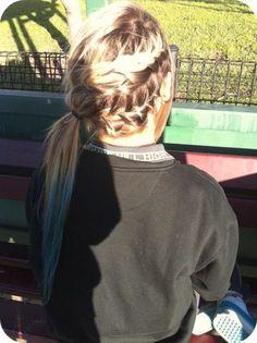 gorgeous braids + blue tips = perfection