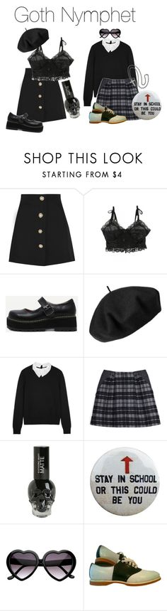 """Goth/Alt. Nymphet"" by dark-eyed-nymphet ❤ liked on Polyvore featuring Miu Miu, Betmar, Carven, Thakoon Addition, alternative, nymphet, darling, nymphette and aesthetic"