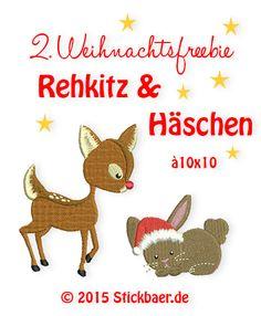 Stickbaer-Rehkitz+Hase                                                                                                                                                                                 Mehr                                                                                                                                                                                 Mehr