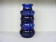 Blue Scheurich Fat Lava Vase van RetroVases op Etsy