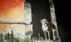 ...un perro...cosas q pasan 25x30 Acrílico Maria P.