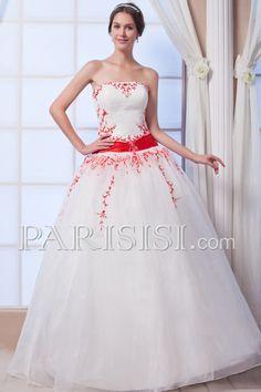 vestidos de novia Cremallera Marfil Hasta Suelo Basque Sin tirantes Elegante Moderno Glamouroso Arco Bordado Organza Sin Mangas
