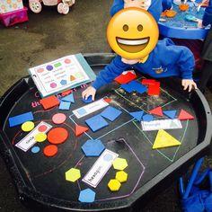 Shape sorting. 2d Shapes Activities, Teaching Shapes, Eyfs Activities, Nursery Activities, Sorting Activities, Infant Activities, Maths Eyfs, Eyfs Classroom, Preschool Math