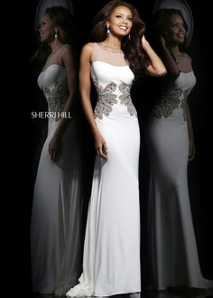 Sherri Hill 11030 - Ivory Beaded Stretch Homecoming Dresses Online