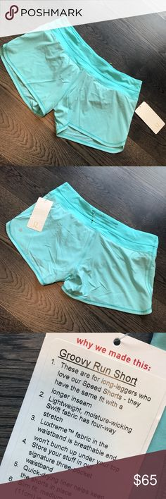 Lululemon Groovy Run Short - Size 12 - NWT Groovy run shorts, a rare find since lulu no longer makes this item! Longer inseam keeps those legs covered, and these are a beautiful color! lululemon athletica Shorts
