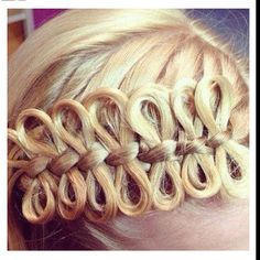 I would never wear my hair like this, but I'd like to learn how to do it. Might be cute in a little girl's hair.