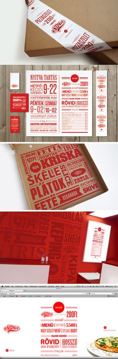Red, white and craftpaper colour scheme works together awesomely!