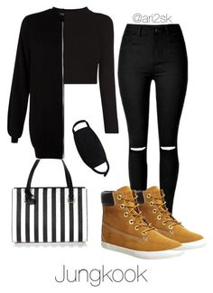 Traveling with Jungkook by ari2sk on Polyvore featuring polyvore, мода, style, New Look, Timberland, Dolce&Gabbana, fashion and clothing