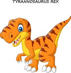 Cartoon tyrannosaurus isolated on white background vector Dinosaur Drawing, Dinosaur Art, Dinosaur Toys, Cartoon Dinosaur, Dinosaur Images, Dinosaur Pictures, Tyrannosaurus, Dinosaur Birthday Cakes, Art Birthday