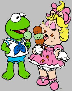 kermit and miss piggy Baby Cartoon, Cartoon Pics, Cartoon Characters, Kermit And Miss Piggy, Kermit The Frog, Fairy Tale Story Book, Fairy Tales, Coloring Pictures For Kids, Muppet Babies
