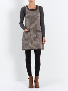 There is potential to use handwoven fabric for a dress/tunic of this style