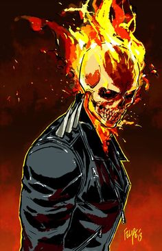 Drawing Marvel Comics Ghost Rider: Danny Ketch by FelipeSmith on DeviantArt - Comic Book Characters, Marvel Characters, Comic Character, Comic Books Art, Comic Art, Marvel Comics, Marvel Heroes, Ms Marvel, Captain Marvel