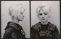 handcuffs and beehives...a small collection of vintage mugshots of ladies.