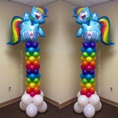 My little pony rainbow columns