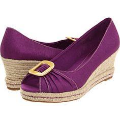 Beautiful purple Naturalizer wedges for fun heels.