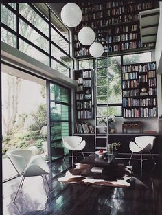 light-filled library