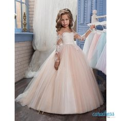 Find More Flower Girl Dresses Information about Princess Beaded Arabic 2017 Flower Girl Dresses With Long Sleeves Sheer Crew Neck Beautiful Child Wedding Party Gowns,High Quality girls hawaiian dresses,China dress missing Suppliers, Cheap dresses silk from only true love topseller Store on Aliexpress.com