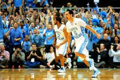 UNC guard Marcus Paige (5) reacts after a huge shot in the second half of the North Carolina Tar Heels vs. NC State Wolfpack NCAA basketball game, Saturday, February 23, 2013 in Chapel Hill, NC.