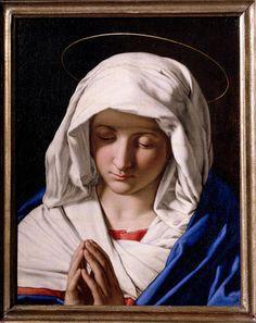 """""""Il Sassoferrato"""" (1609- 1685) - Madonna orante -  1640-1650 - Accademia Carrara di Bergamo Pinacoteca"""
