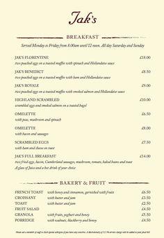 jaks london menu
