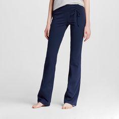 Women's Yoga Tie Waist Pant Oxford Blue M- Mossimo Supply Co. (Juniors'), Size: Medium