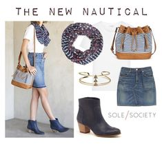 """""""The New Nautical"""" by solesociety ❤ liked on Polyvore featuring Sole Society, Yves Saint Laurent and rag & bone"""