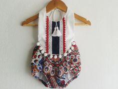 SIZE 0-3 months/ Festive Baby Girl Romper/Boho Chic Romper/ Baby Clothes/Pom Pom/ Photo Props by VivaBohoStyle on Etsy https://www.etsy.com/listing/236704750/size-0-3-months-festive-baby-girl