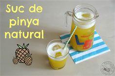 Entre núvols de cotó: Suc de pinya natural / Zumo de piña natural