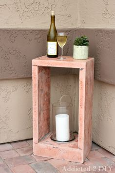 DIY Concrete Side Table {Plus What I Learned from My First Concrete Project}