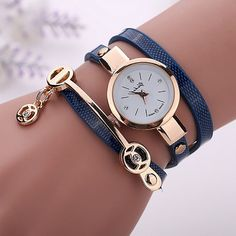 2016 Fashion New Summer Style Leather Casual Bracelet Watch Wristwatch Women Dress Watches Relogios Femininos Watch