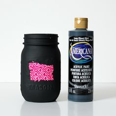 Desk Organizer Idea: Composition Book Mason Jar | Mason Jar Crafts Love