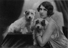 Maria's Royal Collection: Princess Helen of Greece and Denmark, Princess of Romania Glen Of Imaal Terrier, Sealyham Terrier, Fox Terrier, Terriers, Romanian Royal Family, Greek Royal Family, Dog Photos, Dog Pictures, West Highland Terrier