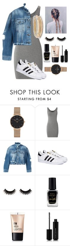 """""""trendy club night"""" by rissarenee37 ❤ liked on Polyvore featuring Daniel Wellington, Modström, County Of Milan, adidas, Barry M, Charlotte Russe, Marc Jacobs and Kendra Scott"""