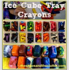 DIY Ice Cube Crayons Out Of Broken Pieces #Various #Trusper #Tip