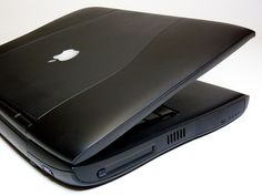 Apple's Upside Down Downside Up Logo (PowerBook G3 (Lombard) by Damian_Ward, via Flickr)