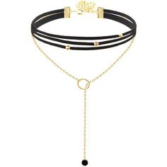 Choker Lariat found on Polyvore featuring jewelry, necklaces, choker jewelry, lariat necklace, choker necklace and lariat jewelry