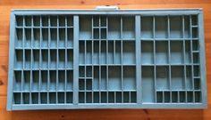 Printer Tray Drawer Hamilton Rustic Shabby Blue Distressed Paint Antique OOAK #RusticPrimitive #Hamilton