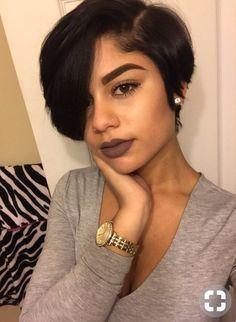 Coupe courte femme noire visage rond 2019