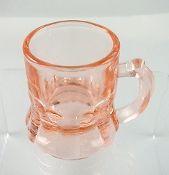 Pink Depression Federal Glass Mini Shot Glass