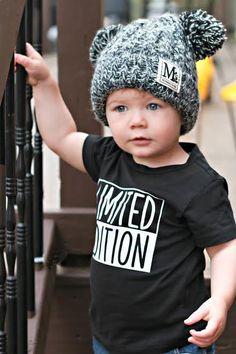 S knit pom pom colors buddie&boo мода для Little Boy Fashion, Baby Boy Fashion, Toddler Fashion, Kids Fashion, Trendy Boy Outfits, Cute Outfits For Kids, Cute Kids, Baby Shirts, Boys T Shirts