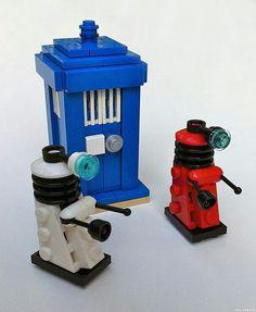 Lego dalek and tardis.